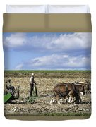 Amish Farmer Duvet Cover