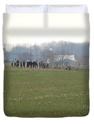Amish Friends Gather Duvet Cover