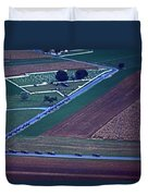 Amish Funeral Buggie Procession Aerial  Duvet Cover