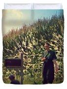 Amish Girls Watermelon Break Duvet Cover