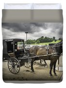 Amish Horse And Buggy Duvet Cover