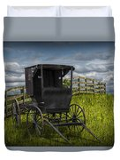 Amish Horse Buggy Duvet Cover