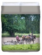 Amish Lady Disking Duvet Cover
