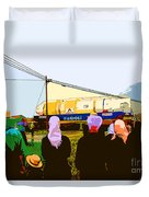 Amish Watching A Nuclear Reactor Go By Duvet Cover