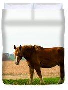 Amish Work Horse Duvet Cover