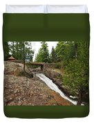 Amity Creek Falls Duvet Cover
