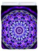 Ammersee Cropcircle Lightmandala Morph Duvet Cover by Robert Thalmeier