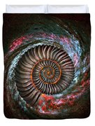 Ammonite Galaxy Duvet Cover