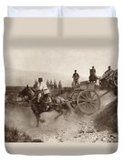 Ammunition Wagons Of An Italian Field Duvet Cover