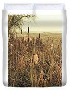 *among The Reeds  #landscape Duvet Cover