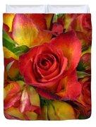Among The Rose Leaves Duvet Cover