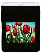 Among The Tulips Duvet Cover