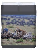 Among The Vultures 1 Duvet Cover