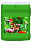 Amongst The Flowers Duvet Cover