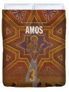 Amos Books Of The Bible Series Old Testament Minimal Poster Art Number 30 Duvet Cover