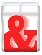 Ampersand - Red - And Symbol - Minimalist Print Duvet Cover