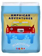 Amphicar Adventure Sign Duvet Cover