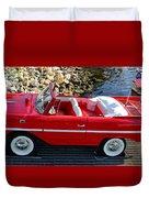 Amphicar Red  Duvet Cover
