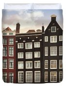 Amsterdam Architectre At Twilight Duvet Cover