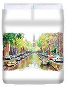Amsterdam Canal 2 Duvet Cover