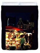 Amsterdam Flower Market Duvet Cover
