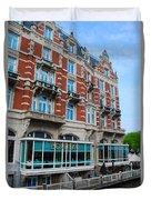 Amsterdam Holland Canal Hotel Restaurant Duvet Cover