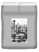 Amsterdam In Black And White Duvet Cover