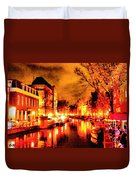 Amsterdam Night Life L A S Duvet Cover