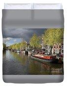 Amsterdam Prinsengracht Canal Duvet Cover