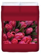 Amsterdam Red Tulips Duvet Cover