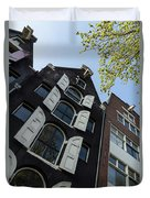 Amsterdam Spring - Arched Windows And Shutters - Right Duvet Cover