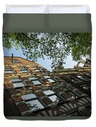 Amsterdam Spring - Fancy Brickwork Glow - Left Horizontal Duvet Cover