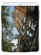 Amsterdam Spring - Fancy Brickwork Glow - Left Vertical Duvet Cover