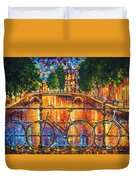 Amsterdam - The Bridge Of Bicycles  Duvet Cover