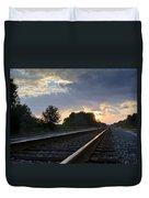 Amtrak Railroad System Duvet Cover by Carolyn Marshall