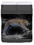 Amur Leopard On The Hunt Duvet Cover