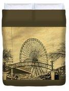 Amusement Park Vintage Duvet Cover