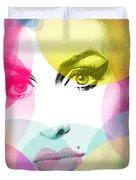 Amy Portrait Pink Yellow  Duvet Cover