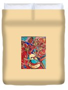 An Abstract Floral Duvet Cover