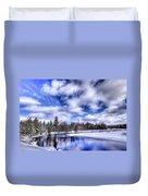 An Adirondack Winter Duvet Cover
