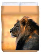 An Adult Male African Lion, Panthera Duvet Cover