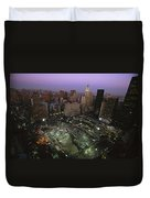 An Aerial View Of Ground Zero Duvet Cover