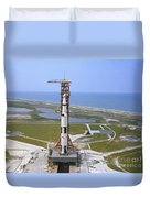 An Aerial View Of The Apollo 15 Duvet Cover