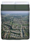 An Aerial View Of Urban Sprawl Duvet Cover