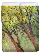 An Afternoon At The Park Duvet Cover by Jennifer Lommers