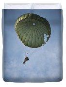 An Airman Descends Through The Sky Duvet Cover