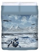 An Alien Base Located In The Antarctic Duvet Cover
