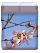 An Almond Tree Blooming Duvet Cover