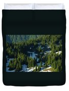 An Alpine Lake  Duvet Cover by Jeff Swan