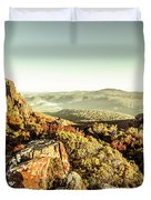 An Alpine Morning Duvet Cover